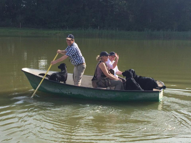 Wassertraining Boot fahren